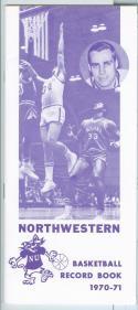 1970 - 71 Northwestern University basketball media guide nm -bx70