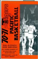 1970 - 71 University of the Pacific UOP basketball media guide nm bx70