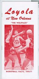 1970 - 71 Loyola at New Orleans basketball media guide nm -Bx70