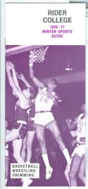 1970 - 71 Rider College basketball media guide nm -bx70