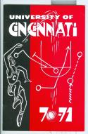 1970 - 71 University of Cincinnati basketball media guide nm -bx70