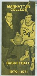 1970 - 71 Manhattan College basketball media guide nm -bx70
