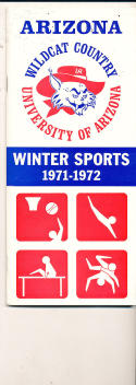 1971 - 72 Arizona Basketball press Media guide
