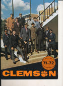 1971 - 1972 clemson basketball press Media guide
