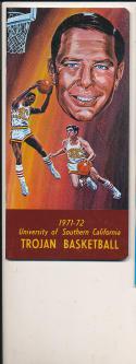 1971 - 1972 Paul Westphal USC Basketball press Media guide