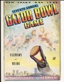 1952 Clemson vs. Miami Gator Bowl Football Program EM  bx cp1