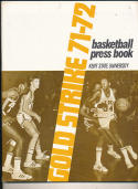 1971 - 1972 Kent State University basketball press Media guide