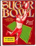 1948 Alabama vs. Texas College Sugar Bowl Football Program EM  bx cb1