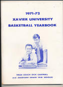 1971 - 1972 Xavier Yearbook Basketball press Media guide