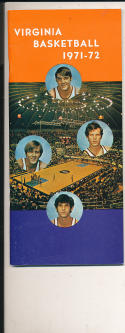 1971 - 1972 Virginia Basketball press Media guide