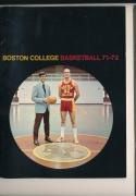 1971 - 1972 Boston College  Basketball press Media guide
