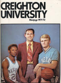 1971 - 1972 Creighton University basketball press Media guide