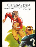 1940 UCLA vs Santa Clara Jackie Robinson Football Program