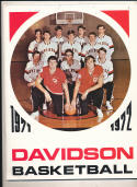 1971 - 1972 Davidson basketball press Media guide