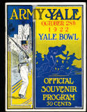 10/28 1922 Army vs Yale  Football Program em