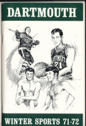1971 - 1972 Dartmouth Hockey  Basketball press Media guide