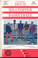 1971 - 1972 Western Kentucky Basketball press Media guide