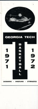 1971 - 72 Georgia Tech  Basketball press Media guide