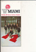 1971 - 1972 Miami university Basketball press Media guide