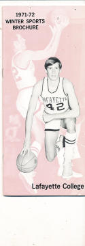 1971 - 1972 Lafayette Basketball press Media guide