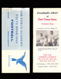 1957 East Texas State College football Media  Press Guide