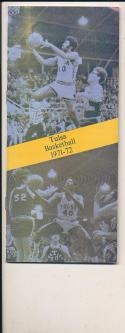 1971 - 1972 Tulsa Basketball press Media guide