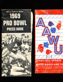 1969 pro bowl press book NFL East/West football Guide