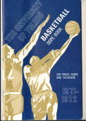 1971 - 1972 Toledo Basketball press Media guide