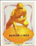 1949 11/26 Baylor vs Rice Football Program