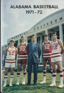 1971 - 1972 Alabama Basketball press Media guide