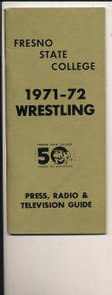 1971 - 1972 Fresno State College basketball press Media guide