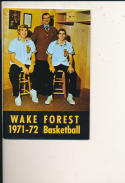 1971 - 72 wake forest  Basketball press Media guide