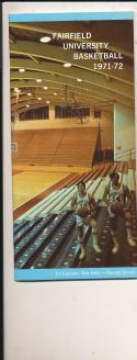 1971 - 1972 Fairfield basketball press Media guide