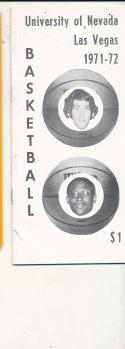 1971 - 1972 UNLV Basketball press Media guide