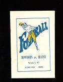 1927  11/5 Bowdoin vs Maine  Football Program