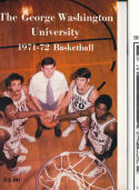 1971 - 1972 George Washington University  Basketball press Media guide