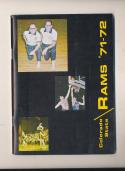 1971 - 1972 Colorado State  Basketball press Media guide