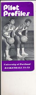 1971 - 1972 Portland  Basketball press Media guide