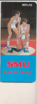 1971 - 1972 SMU Basketball press Media guide