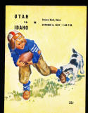 10/5 1957 Utah vs Idaho  Football Program