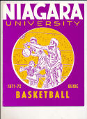 1971 - 1972 Niagara Basketball press Media guide