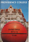 1971 - 1972 Providence Basketball press Media guide