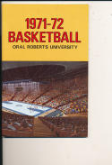 1971 - 72 Oral Roberts Basketball press Media guide