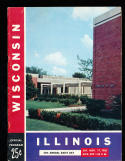 11/7 1956 Wisconsin vs Illinois  Football Program