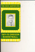 1971 - 1972 Oregon Basketball press Media guide