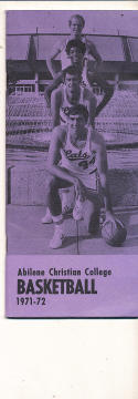 1971 - 1972 Abilene Christian College Basketball press Media guide