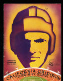 11/6 1937 Washington vs California  Football Program