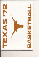 1971 - 72 Texas Basketball press Media guide