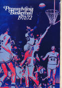 1971 - 1972 Pennsylvania  Basketball press Media guide