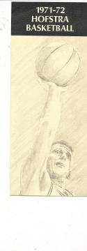 1971 - 1972 Hofstra  Basketball press Media guide